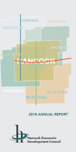 Hancock County Indiana Map with 2018 Annual report